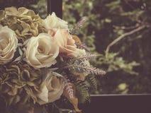 Stile d'annata del mazzo del fiore Fotografie Stock Libere da Diritti