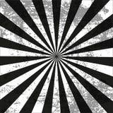 Stile d'annata del retro nero radiale del fondo con sporcizia Royalty Illustrazione gratis