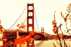 Stile d'annata golden gate bridge San Francisco Fotografia Stock