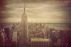 Stile d'annata NYC immagine stock libera da diritti