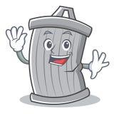 Stile d'ondeggiamento del fumetto del carattere dei rifiuti royalty illustrazione gratis