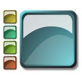 Stile del Aqua con i tasti di Web Immagini Stock Libere da Diritti