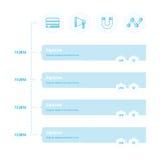 Stile del blu del modello di cronologia di progettazione Immagine Stock
