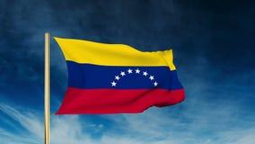 Stile del cursore della bandiera del Venezuela Ondeggiando nella vittoria video d archivio