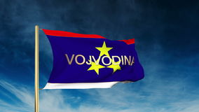 Stile del cursore della bandiera di vojvodina con il titolo Ondeggiamento dentro video d archivio