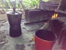 Stile del dominicano del caffè espresso Fotografia Stock