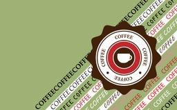 Stile del fondo del caffè retro Illustrazione di vettore fotografie stock