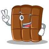 Stile del fumetto del carattere del cioccolato di due dita illustrazione vettoriale
