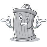 Stile del fumetto del carattere dei rifiuti di strizzatina d'occhio illustrazione di stock