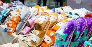 Stile del fumetto delle pantofole Fotografia Stock