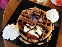Stile del Greco del gelato della cialda Fotografie Stock