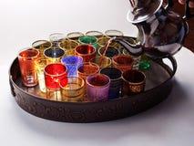 Stile del Medio-Oriente del tè del servizio Fotografia Stock