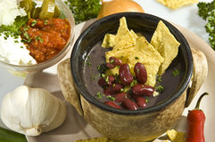 Stile del mexican del carne di imbroglione della minestra Immagine Stock