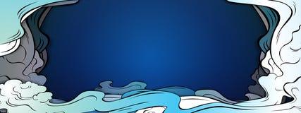 Stile del papercut del fondo di vettore della nuvola royalty illustrazione gratis