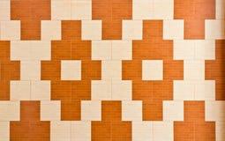 Stile del reticolo sulla parete del tempiale Immagini Stock