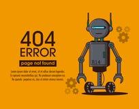 Stile del robot di errori 404 Fotografia Stock