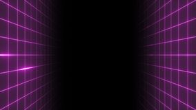 Stile del ` s Synthwave di VJ 80 video d archivio