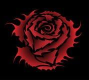 Stile del tatuaggio della Rosa Fotografia Stock Libera da Diritti