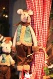 Stile dell'annata dei giocattoli della decorazione del nuovo anno e di Natale Fotografia Stock
