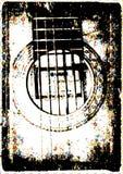 Stile dell'annata della chitarra Fotografia Stock