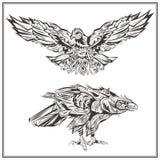 Stile dell'annata di Eagles degli uccelli Immagine Stock Libera da Diritti