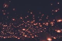 Stile dell'annata di festival di lanterna Immagini Stock