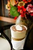 Stile dell'annata di processo del caffè di arte del Latte Immagini Stock