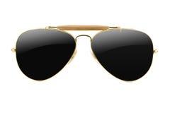 Stile dell'aviatore degli occhiali da sole isolato immagine stock libera da diritti