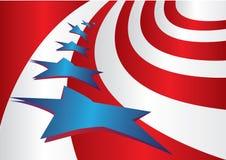Stile della bandierina degli S.U.A. Immagini Stock Libere da Diritti