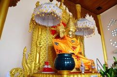 Stile della Birmania della statua di immagine di Buddha della pagoda di Botataung Fotografia Stock