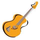 Stile della mano di vettore della chitarra Fotografie Stock Libere da Diritti