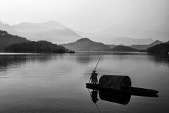 Stile della pittura del paesaggio del cinese Fotografia Stock Libera da Diritti