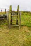 Stile della scaletta della scala, Galles del nord Fotografie Stock Libere da Diritti