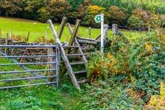 Stile della scaletta della scala, Galles del nord immagini stock libere da diritti