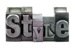 Stile dello scritto tipografico Fotografia Stock