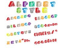 Stile di alfabeto Fotografia Stock