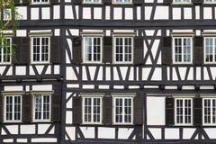 Stile di architettura di Fachwerk immagini stock libere da diritti
