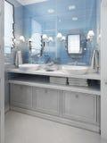 Stile di art deco del bagno Fotografia Stock Libera da Diritti