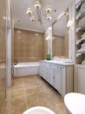 Stile di art deco del bagno Fotografia Stock
