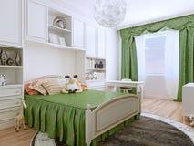 Stile di art deco della camera da letto Immagini Stock