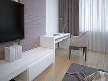 Stile di art deco della mobilia della camera da letto Immagine Stock