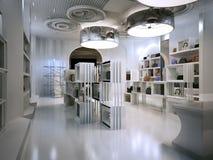 Stile di art deco di interior design del negozio di lusso con i suggerimenti di Contem Fotografie Stock Libere da Diritti