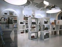 Stile di art deco di interior design del negozio di lusso con i suggerimenti di Contem Fotografia Stock Libera da Diritti