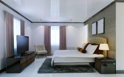 Stile di avanguardia della camera da letto Fotografie Stock