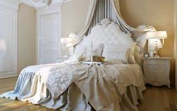 Stile di barocco delle camere da letto Royalty Illustrazione gratis