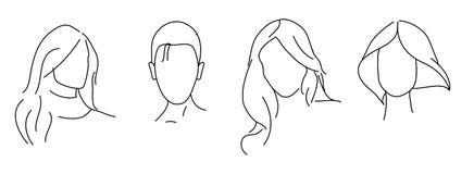 Stile di capelli Immagine Stock