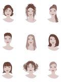 Stile di capelli Fotografia Stock Libera da Diritti