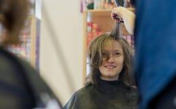 Stile di capelli Fotografie Stock