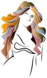 Stile di capelli illustrazione di stock