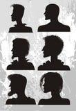 Stile di capelli del `s dell'uomo Immagini Stock